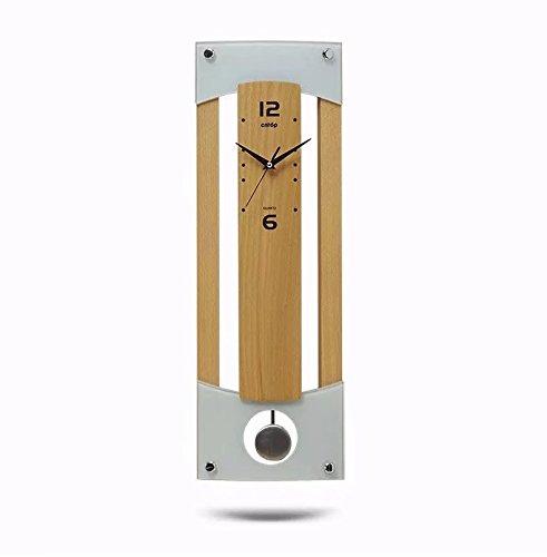 木質 柱時計 ヨーロッパ 家居 アクセサリー 創意 リビング 壁時計 ストラップ 木色 SFANY B07CKSXXCY