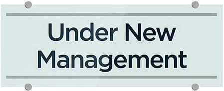 8x3 Under New Management 5-Pack CGSignLab Basic Teal Premium Acrylic Sign