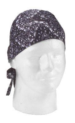 Black White Trainmen Head Wrap Do-rag (2 ()