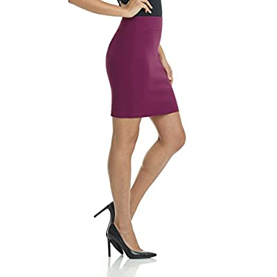 Rekucci Women's Ease Into Comfort Above The Knee Stretch Pencil Skirt 19 inch at Women's Clothing store