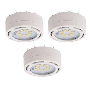 Amax Lighting - 3Led Puck Light 120V. - White Led Board With 24 1/2 Watt Led Panels - Total Bulb Wattage: 12Watt by Amax Lighting (Image #1)