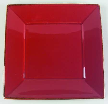Pottery Barn Asian Square - Paprika red Dinner Plate