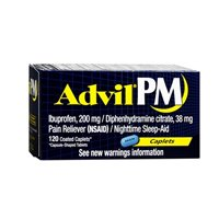 Advil Advil Pain Reliever And Nighttime Sleep Aid, 120 Caple