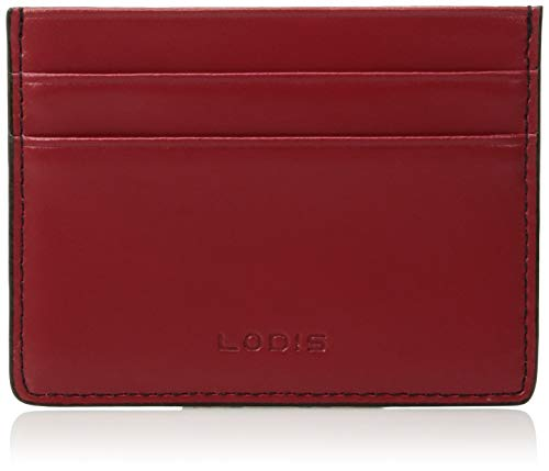 Lodis Audrey RFID Mini ID Card Case, Red/Black