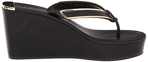 0671ac4a72 Aldo Women's Jeroasien Wedge Sandal, Black Synthetic, 8 B US ...