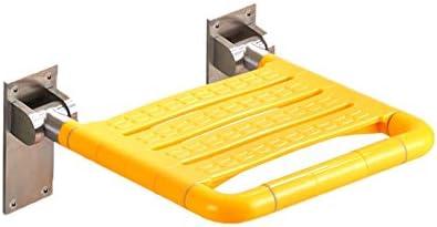 シャワーチェアシート浴槽の安全スツール壁掛け式 スペースを節約,アンチスキッド 折り畳み式バススツールした折りたたみバスルームスツール 高齢者、障害者、肥満、負傷者に使用できます (Color : 黄)