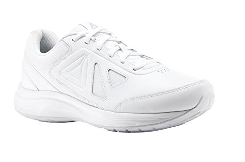 Reebok Men's Walk Ultra 6 DMX Max Sneaker, White/Steel-Wide e, 10 4E - Walk Ocean 10