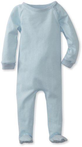 Kushies Unisexbaby Newborn Everyday Layette Sleeper, Blue Stripe, 9 - Cotton Sleeper Kushies