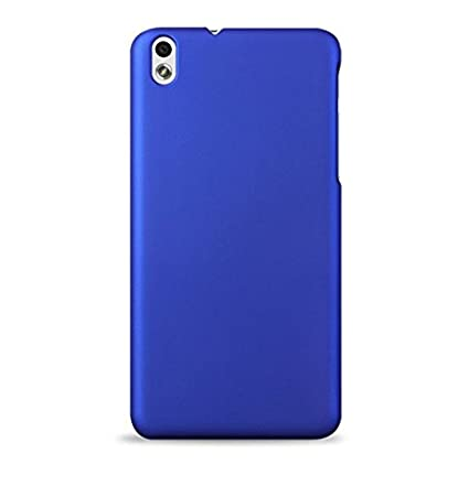 WOW Imagine TM  Rubberised Matte Hard Case Back Cover for HTC Desire 816 / 816G  Uber Blue