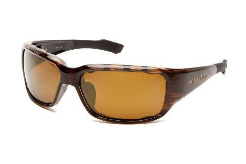 Native Eyewear Bolder Sun Glasses (Bronze Reflex/Brown, - Summit Sunglasses