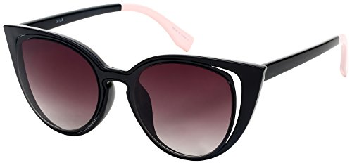 Edge I-Wear Vintage Inspired Cut Out Cat Eye Sunnies W/Gradient Lens - Wing Sunglasses