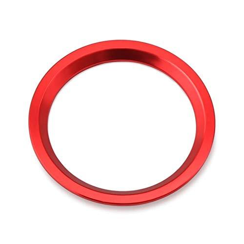 Emblem Trading Bague Start Stop avec bouton pression pour A4 S4 RS4 B9 A5 S5 RS5 F53 Q5 SQ5 FY A6 S6 RS6 C7 A7 S7 RS7 C8 Rouge