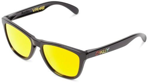 Oakley Men's Frogskins (a) Polarized Iridium Rectangular Sunglasses, Matte Brown Tortoise, 54 - Retro Goggles Oakley