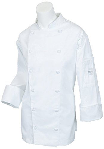 Mercer Culinary M62060WHXS Renaissance Women's Traditional Neck Jacket, X-Small, (Ladies Traditional Chefs Jacket)