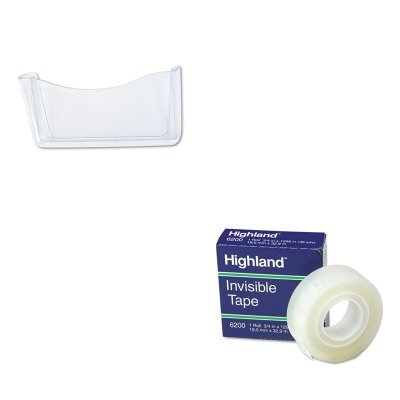KITMMM6200341296RUB65972ROS - Value Kit - Rubbermaid Unbreakable Single Pocket Wall File (RUB65972ROS) and Highland Invisible Permanent Mending Tape (MMM6200341296)