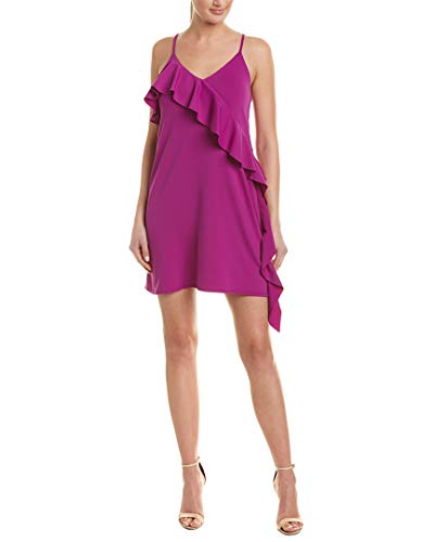 Susana Monaco Womens Ruffled Slip Dress, Xs, Purple