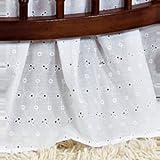 BabyDoll Round Crib Eyelet Dust Ruffles, White
