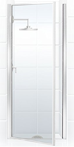 Classic Glass Shower Hinge - Coastal Shower Doors L24.69B-C Legend Series Framed Hinge Shower Door with Clear Glass, 23.625
