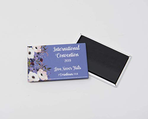 10 Magnet - LOVE NEVER FAILS International Convention of Jehovah's Witnesses 2019 - JW gifts, JW souvenirs, JW shop ()