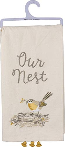 Primitives by Kathy Embroidered Dish Towel, Our Our Nest