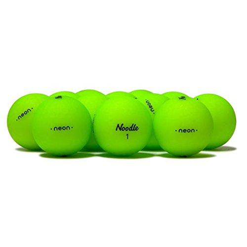 Taylor Made Noodle Neon Matte Lime Golf Balls -