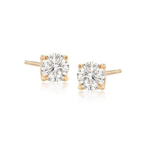 Ross-Simons 0.50 ct. t.w. Diamond Stud Earrings in 14kt Yellow Gold ()