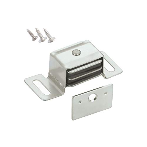 Aluminum Magnetic Catch - 5 Pack Rok Hardware Double Side Strong Magnetic Catch Latch Cabinet Closet Drawer Doors
