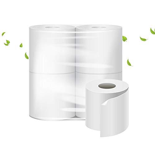 Toiletpapier, 600 scheuren, 2-laags, 4 rollen, 100% pure cellulose, professioneel wit, zacht en duurzaam.