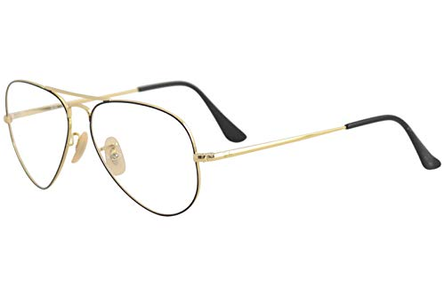 Ray-Ban RX 6489 2946 Eyeglasses Gold on Top Black (Ray-bans Rx)
