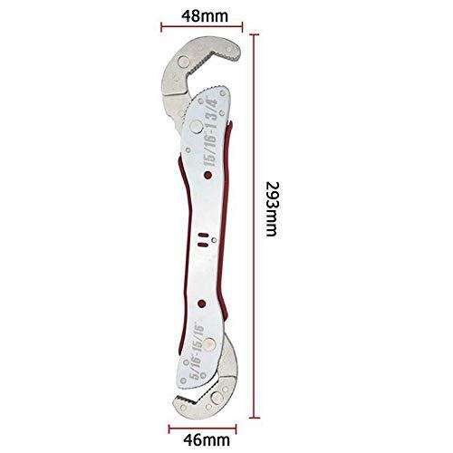llave de acero inoxidable herramienta de mano para el hogar Llave inglesa SENRISE ajustable 9-45 mm llave m/ágica universal llave m/ágica de doble cabeza llave de agarre r/ápido multifunci/ón