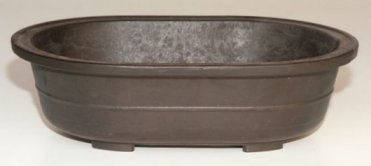 Bonsaiboy Brown Mica Bonsai Pot - Oval 14