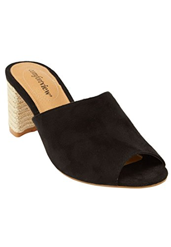 Comfortview Womens Wide Ranet Mules Black