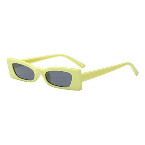 Zhuhaitf Gafas de Gafas Mujer y Cómodas Eyewear Personalidad para Eyeglasses Sol Anteojos Livianas Yellow de de rqrgC8