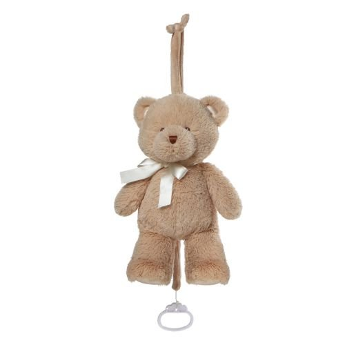 Baby GUND My First Teddy Musical Lullaby Stuffed Animal Plush Pull Down, Brown, 10""