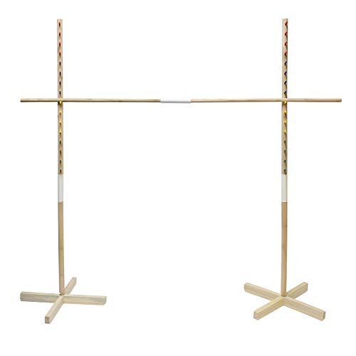 Get Out! Wooden Limbo Game for Kids Adults, 5ft Tall Limbo Stick Set Limbo Kit, Limbo Pole and Base for Luau Party Games -