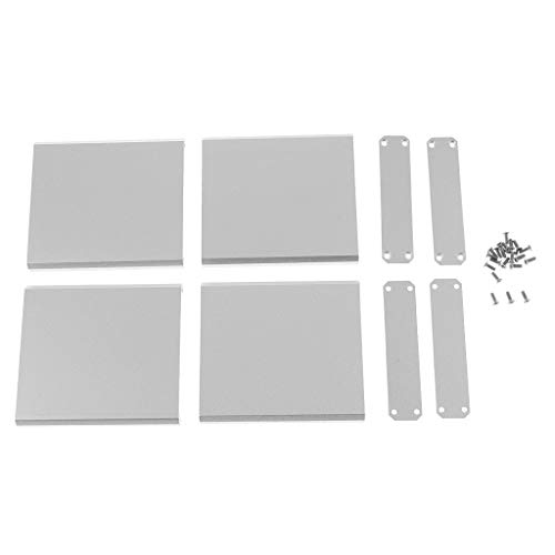 Baosity 2pcs Aluminum Project Enclosure Extruded Electronic Flat Box Case DIY with Screws-75x67x16mm White