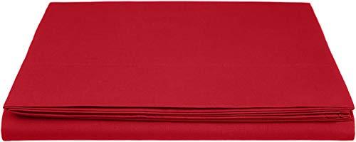 AmazonBasics Everyday - Sabana encimera (100% algodon), 230 x 260 cm - Rojo oscuro