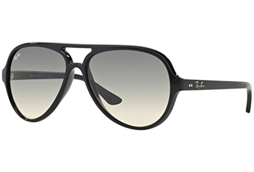 Ray-Ban Unisex Cats 5000 RB4125 59mm Black/Crystal Grey Gradient One Size (Billig Ray Ban Style Sonnenbrille)