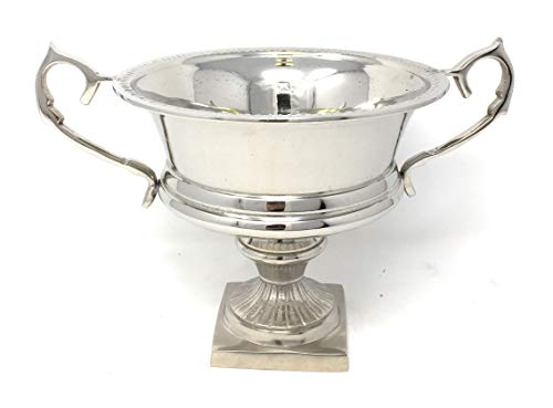 Serene Spaces Living Silver-Plated Trophy Flower Urn