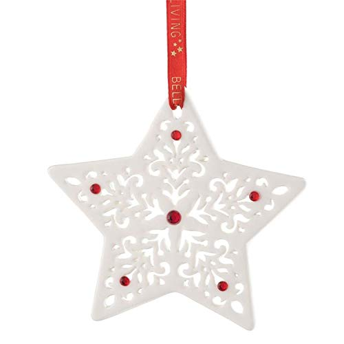 Belleek Pierced Star Ornament