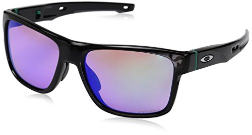 Oakley Men's Crossrange Non-Polarized Iridium Square Sunglasses, Polished black, 57.01 ()
