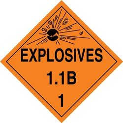 Accuform Signs MPL12VS25 Adhesive Vinyl Hazard Class 1/Di...