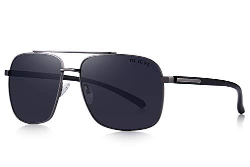 OLIEYE Men HD Polarized Driving Sunglasses for Men-Classic Square ()