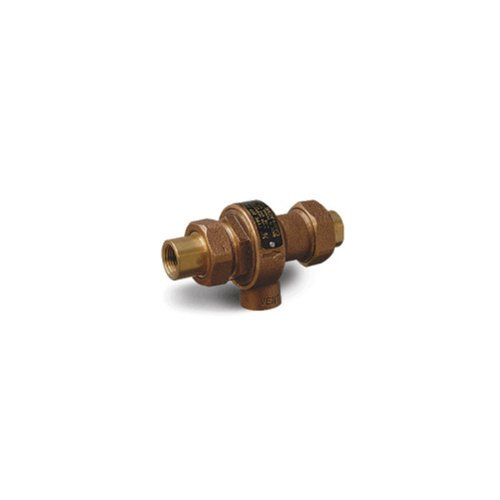 Cash Acme 21574-0000LF Continuous Type 1/2-Inch Backflow Preventer with Atmospheric Vent And Female Union Inlet And Outlet, Lead Free