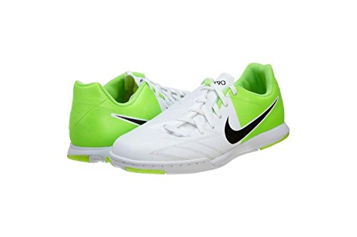 Nike Jr T90 Shoot IV FG - (White/Electric Green/Black) (2.5)