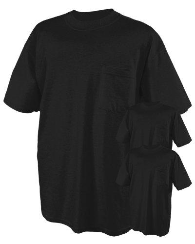 Jerzees 5.6 Oz., 50/50 Heavyweight Blend Pocket T-Shirt (29P)- Black,X-Large