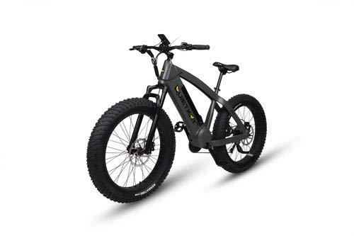 QuietKat Predator Electric Bike for Backcountry and Off-Road Use - Bafang 750W Mid Drive Motor Chargeable Max Speed 19 MPH, Hydraulic Disc Brake 9-Speed Gear 48V/11.6AH - Charcoal