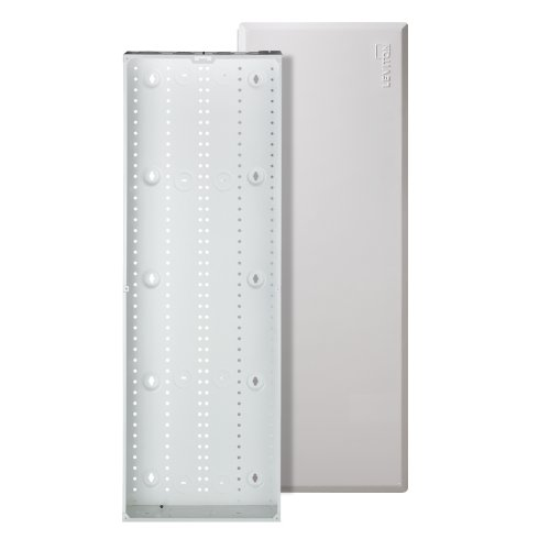 Leviton 47605-42W SMC Structured Media Enclosure with Cover, 42-Inch, White (Entertainment Recessed Leviton Box)