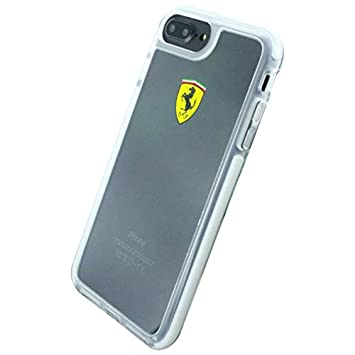 newest 2372a 4f882 Ferrari Apple iPhone 7 Plus Racing Shield Hard Back Cover - Clear ...