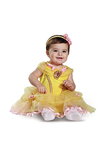 Disguise Baby Girls' Belle Infant Costume, Yellow 6 to 12 -